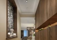 经典雅致三房两厅新中式风格装修,精美别致的石膏线造型,简单大气