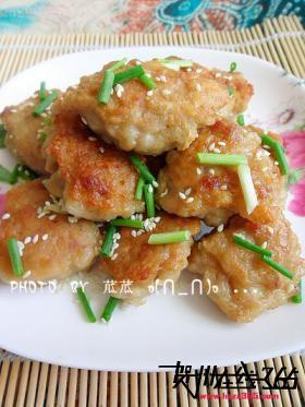 豆腐肉末饼